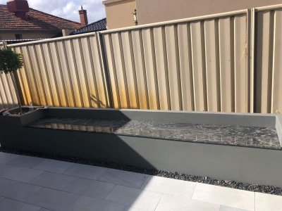 Sand render finish